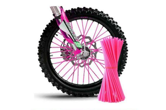 Couvre Rayon Rose fluo pour Motocross et enduro