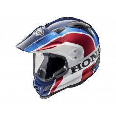 Casque Moto Cross ARAI TOUR-X 4 HONDA AFRICA TWIN Blanc - Bleu - Rouge