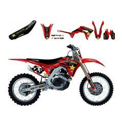 Kit Déco Honda Rockstar Energy Drink + Housse de selle pour CRF250 R (18-19) CRF450 R (17-19) CRF450 RX (17-19)
