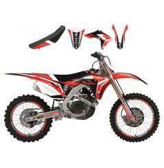 Kit Déco Honda Dream 4 + Housse de selle pour CR125 R (02-07) CR250 R (02-07)