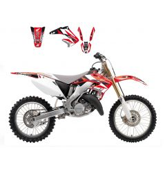 Kit Déco Honda Dream Graphic 3 pour CRF250 R (04-09) CRF250 X (04-19)