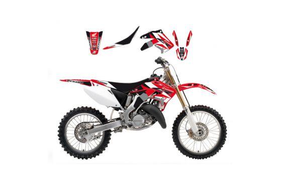 Kit Déco Honda Dream Graphic 3 + Housse de selle pour CRF250 R (18-19) CRF450 R (17-19) CRF450 RX (17-19)