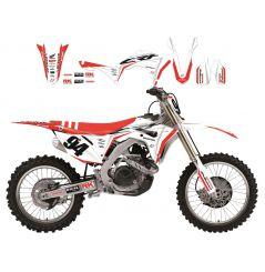 Kit Déco Honda Super White pour CRF250 R (18-21) CRF450 R (17-20)