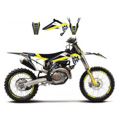 Kit Déco Husqvarna Dream Graphic 4 pour TC125 (16-18) TC250 (17-18) TE250 (17-19) TE300 (17-19)