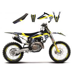 Kit Déco Husqvarna Dream Graphic 4 + Housse de selle pour TC125 (16-18) TC250 (17-18) TE250 (17-19) TE300 (17-19)