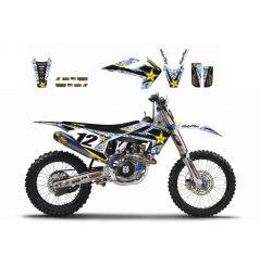 Kit Déco Husqvarna Rockstar Energy Drink pour TE125 (14-16) TE250 (15-16) TE300 (14-16) TE450 (14)