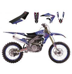 Kit Déco Yamaha Dream Graphic 4 + Housse de selle pour YZ125 (02-14) YZ250 (02-14)
