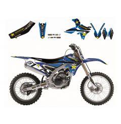 Kit Déco Yamaha Rockstar Energy Drink + Housse de selle pour YZ250 F (14-18) YZ450 F (14-17)