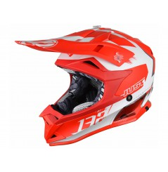 Casque Enfant Moto Cross JUST1 J32 PRO KICK Rouge - Blanc