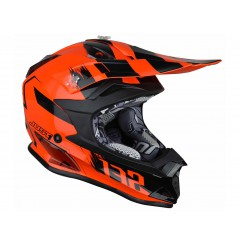 Casque Enfant Moto Cross JUST1 J32 PRO KICK Noir - Orange