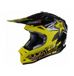 Casque Enfant Moto Cross JUST1 J32 PRO ROCKSTAR 2.0 Noir - Jaune