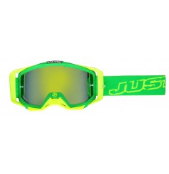 Masque Moto Cross JUST1 IRIS NEON Vert