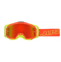 Masque Moto Cross JUST1 IRIS NEON Rouge