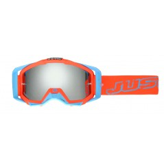Masque Moto Cross JUST1 IRIS NEON Rouge - Bleu