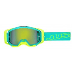 Masque Moto Cross JUST1 IRIS NEON Bleu - Jaune