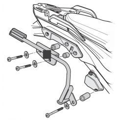 Support de Valise Shad 3P System pour KTM 1050 Adventure (14-16) 1090 R Adventure (14-19) 1290 Adventure (14-18)