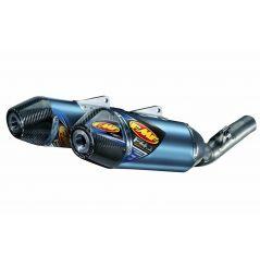 Double Silencieux FMF Factory 4.1 RCT Titane bleu / Carbone pour Honda CRF250 R (14-17)