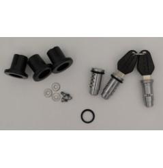 Kit 3 Cylindre Barillet + 2 clés NOIR pour les Nouvelles Valises Shad SH23-SH35-SH36