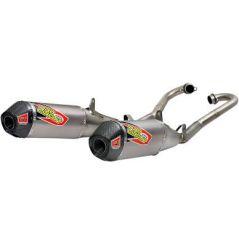 Ligne d'Échappement double Silencieux Pro Circuit T-6 pour Honda CRF450 R/RX (17-18)