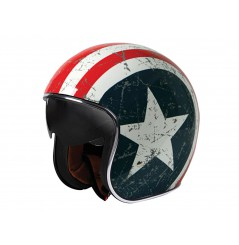 Casque Moto ORIGINE SPRINT REBEL STAR Bleu / Blanc / Rouge