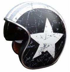 Casque Moto ORIGINE SPRINT REBEL STAR Gris / Blanc