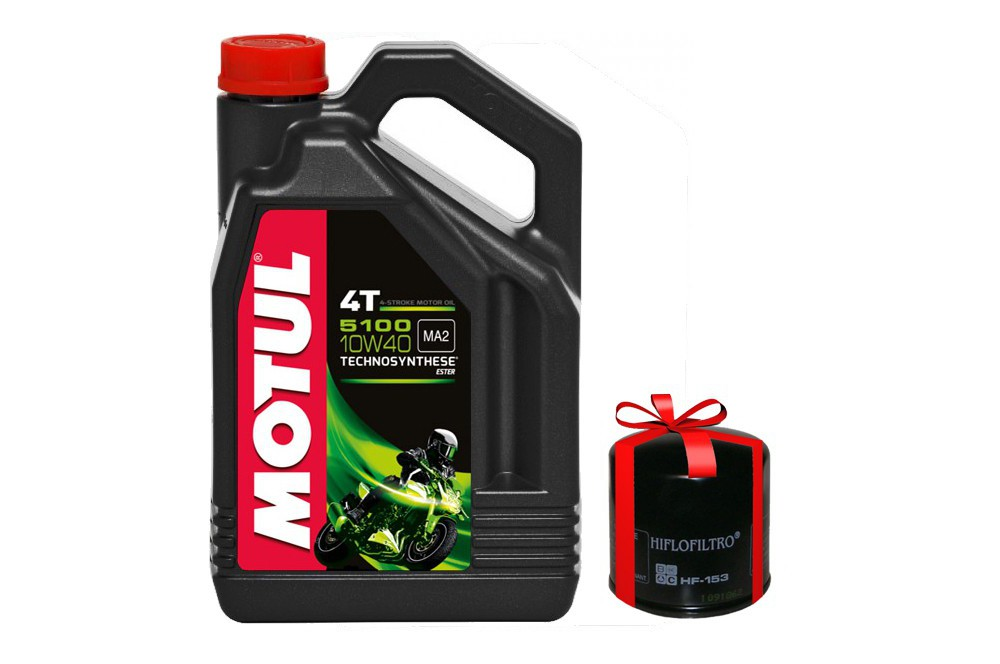 huile moto motul 5100 4t 10w40 4 litres filtre huile offert street moto piece. Black Bedroom Furniture Sets. Home Design Ideas