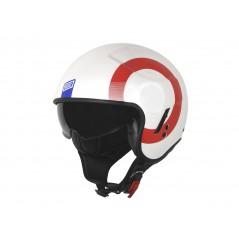 Casque Moto ORIGINE SIERRA ROUND Bleu - Blanc - Rouge