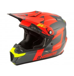 Casque Moto Cross ANSWER AR5 VOYD 2020 Gris - Orange