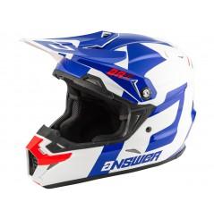Casque Moto Cross ANSWER AR5 VOYD Bleu - Blanc