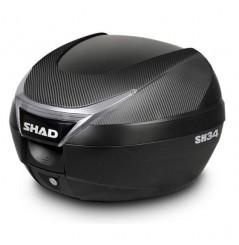 Top case Shad SH34 finition carbone pour Moto et Scooter