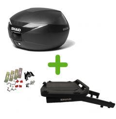 Pack Shad Top Case + Support pour Suzuki Bandit 600 (00-05) Bandit 1200 (01-04)