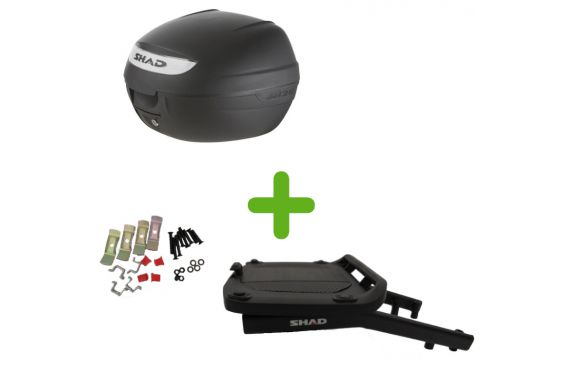 Pack Shad Top Case + Support pour Kawasaki Versys 650 (15-19)