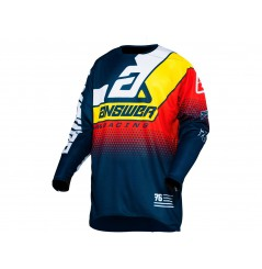 Maillot Cross ANSWER ELITE KORZA 2021 Bleu - Rouge