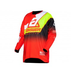 Maillot Cross ANSWER ELITE KORZA 2021 Rouge - Noir