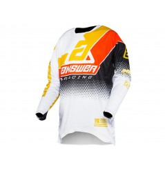 Maillot Cross ANSWER ELITE KORZA 2021 Blanc - Noir