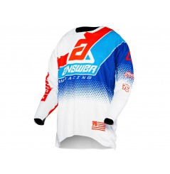 Maillot Cross ANSWER ELITE KORZA 2020 Blanc - Bleu