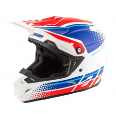 Casque Moto Cross ANSWER AR5 KORZA 2020 Bleu - Blanc - Rouge