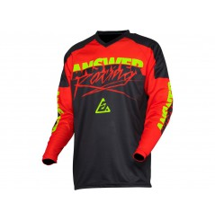 Maillot Cross ANSWER SYNCRON PRO GLOW 2020 Rouge - Noir