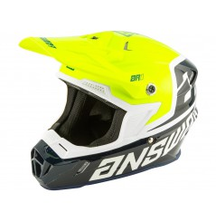 Casque Moto Cross ANSWER AR1 VOYD 2020 Noir - Blanc - Jaune