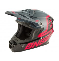 Casque Moto Cross ANSWER AR1 VOYD 2020 Noir - Gris - Rose
