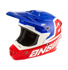 Casque Moto Cross Enfant ANSWER AR1 VOYD 2021 Bleu - Blanc - Rouge