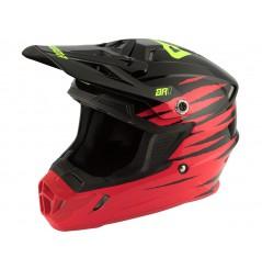 Casque Moto Cross ANSWER AR1 PRO GLOW 2021 Noir - Rouge
