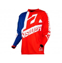 Maillot Cross Enfant ANSWER SYNCRON VOYD 2020 Bleu - Blanc - Rouge