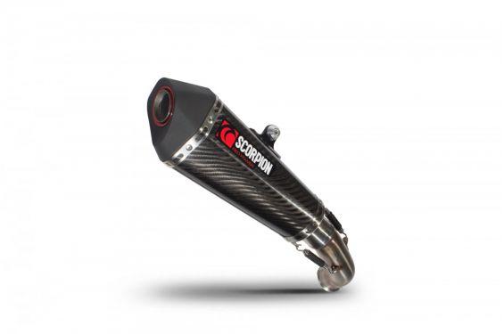 Silencieux d'échappement Moto Scorpion Serket Carbone pour KTM Duke 390 (17-19)