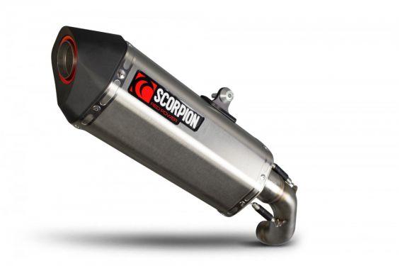 Silencieux d'échappement Moto Scorpion Serket Inox pour KTM Duke 690 (12-17)