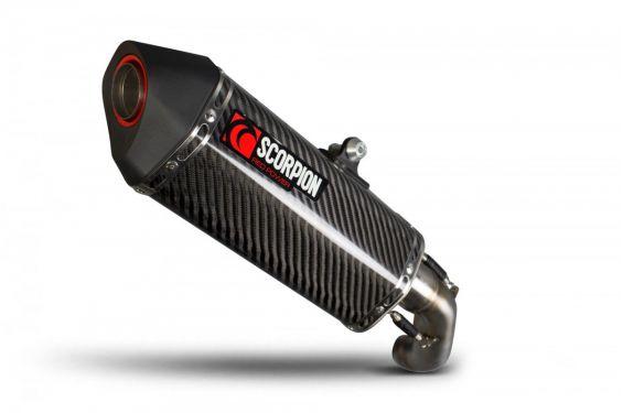 Silencieux d'échappement Moto Scorpion Serket Carbone pour KTM Duke 690 (18-19)