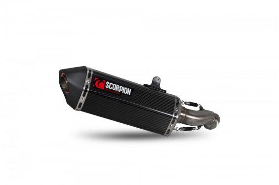 Silencieux d'échappement Moto Scorpion Serket Carbone pour KTM Duke 790 (18-19)