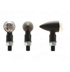 Clignotant Moto LED Adaptables Homologués SHELL Noir