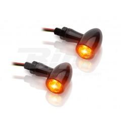 Clignotant Moto LED Adaptables Homologués + Feu Arrière Noir