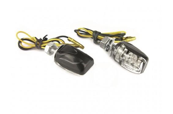 Clignotant Moto LED Adaptables Homologués MICRO Noir